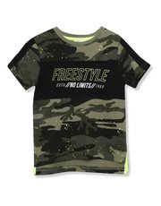 Camouflage slogan t-shirt (3 - 12 yrs)