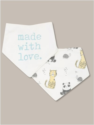 Made with love bibs two pack