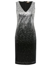 Sequin ombre shift dress