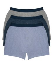 Cotton blend plain jersey boxers three pack