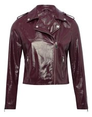 High shine biker jacket
