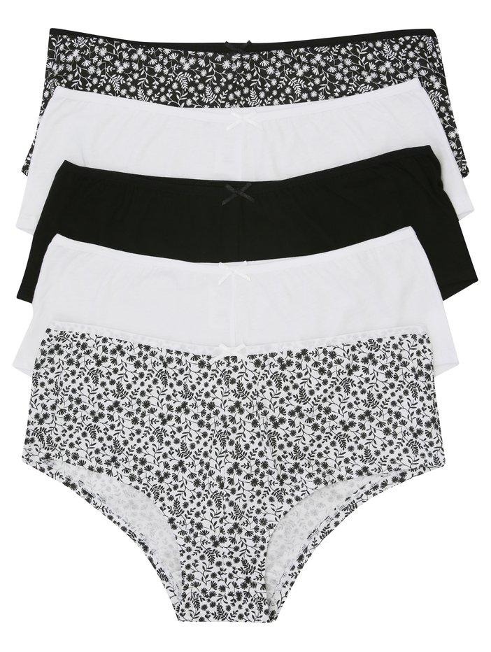 Mixed Girls 10 Pack Briefs,Knickers Pants Every Day Underwear.