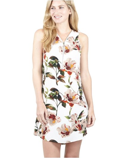 Izabel floral zip neck dress