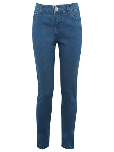 Teen mid wash skinny jeans