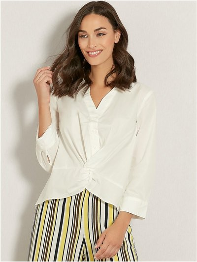 VILA knot front cropped shirt