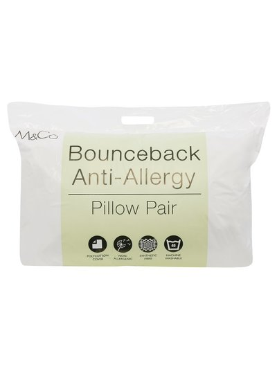 Bounceback firm support anti allergy pillows