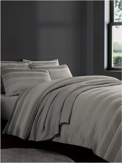 Jacquard stripe duvet set