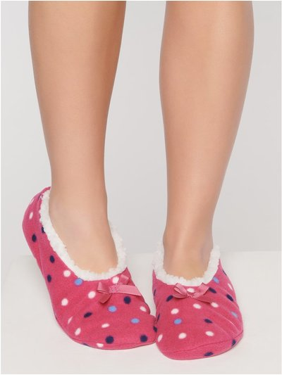 Polka dot slippers