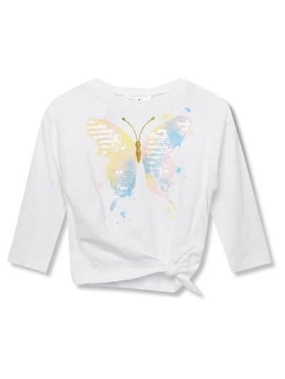Sequin butterfly tie side top (9mths-5yrs)
