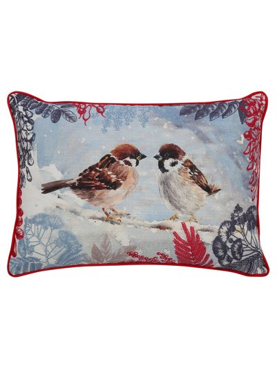 Sparrow print cushion