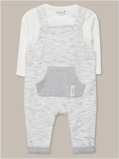 Dungarees and white bodysuit set (Newborn-18mths)