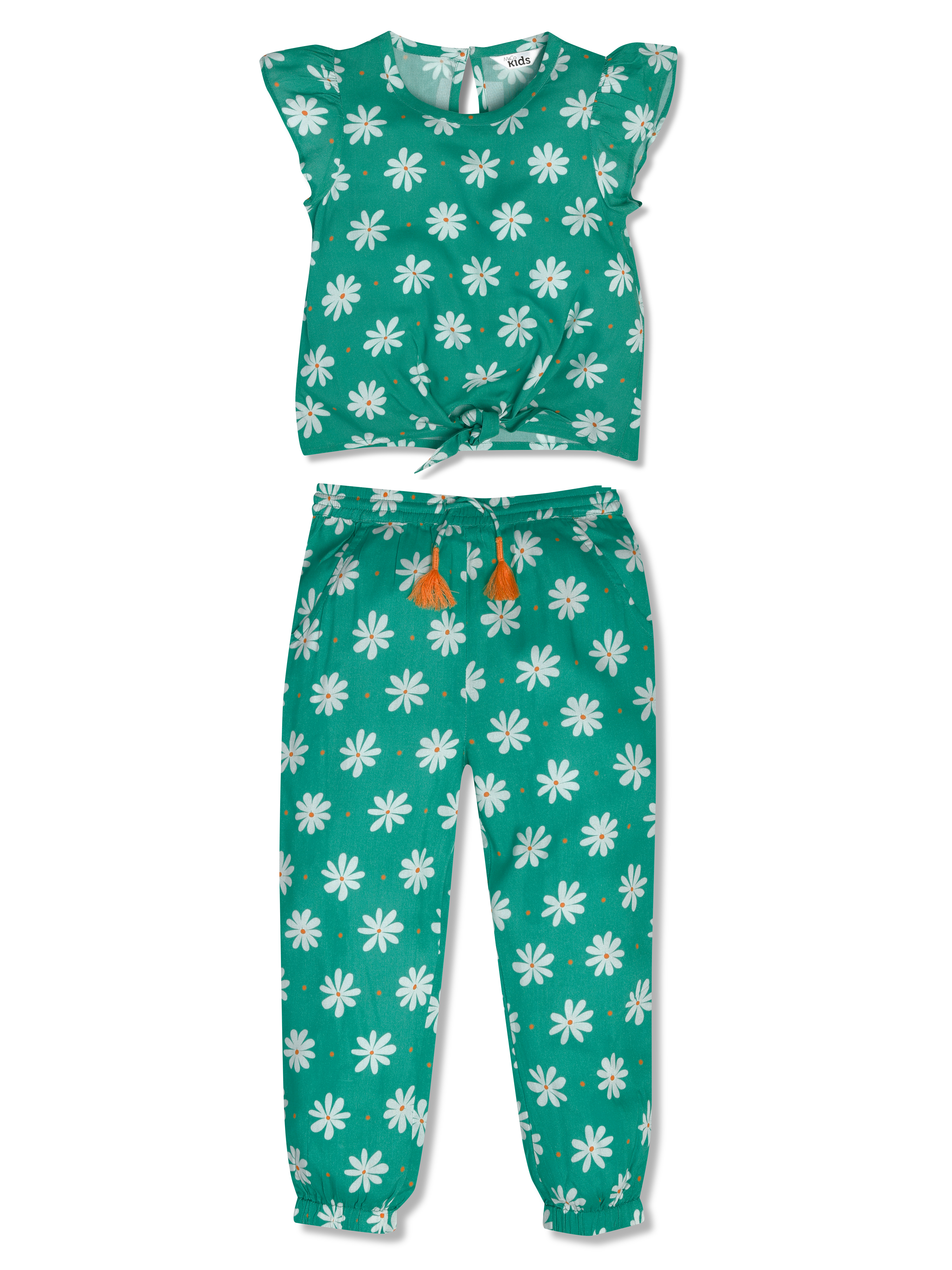 Floral Print Top and Jogger Set (9mths-5yrs)