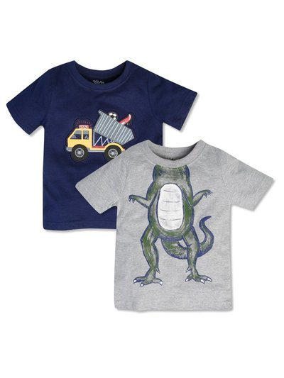 Dinosaur and truck graphic tee set (9mths-5yrs)