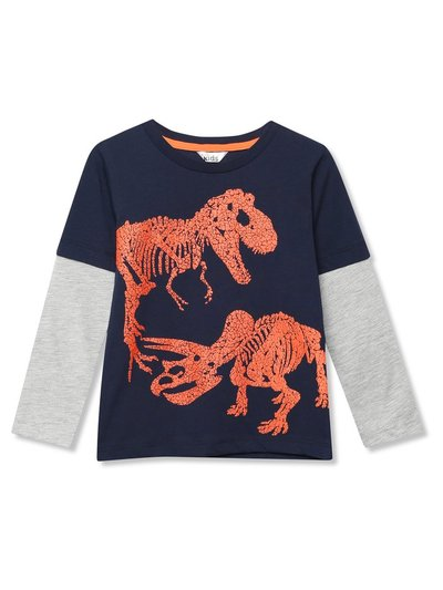 Textured dinosaur t-shirt (3-12yrs)