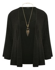 Spirit glitter jacket, vest and necklace set