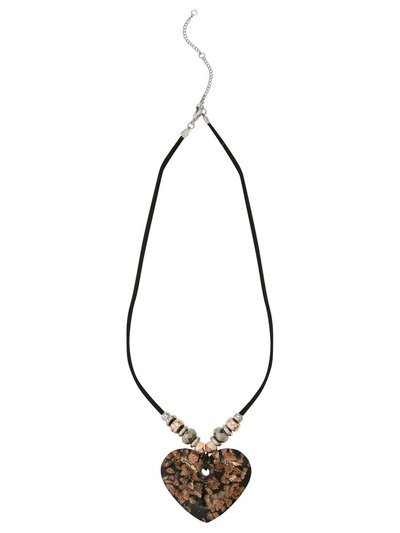 Muse Murano glass heart short necklace
