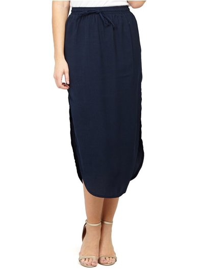 Izabel curved hem midi skirt