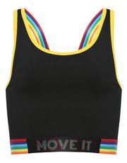 Teens' move it rainbow crop top
