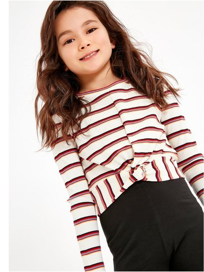 Twist front striped top (3-12yrs)