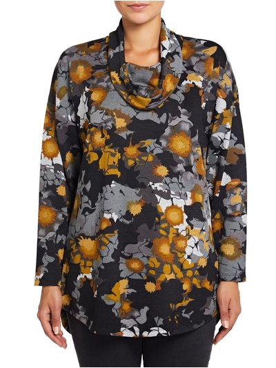 VIZ-A-VIZ abstract floral print tunic