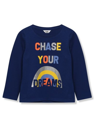 Chase your dreams slogan t-shirt (3-12yrs)