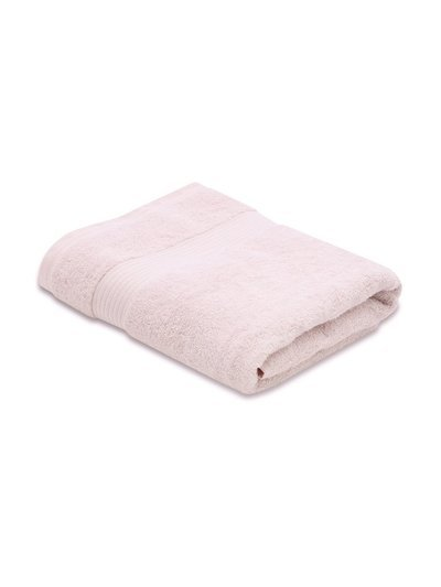Pink combed cotton bath towel
