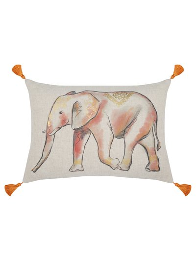 Elephant tassel cushion