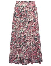 Spirit floral burnout flippy skirt