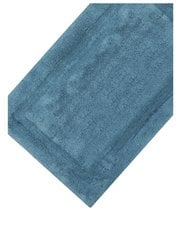 Mid blue cotton deep pile bathmat