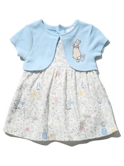 Peter Rabbit mock cardigan dress (Newborn - 2 yrs)