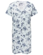 Floral print button up nightdress