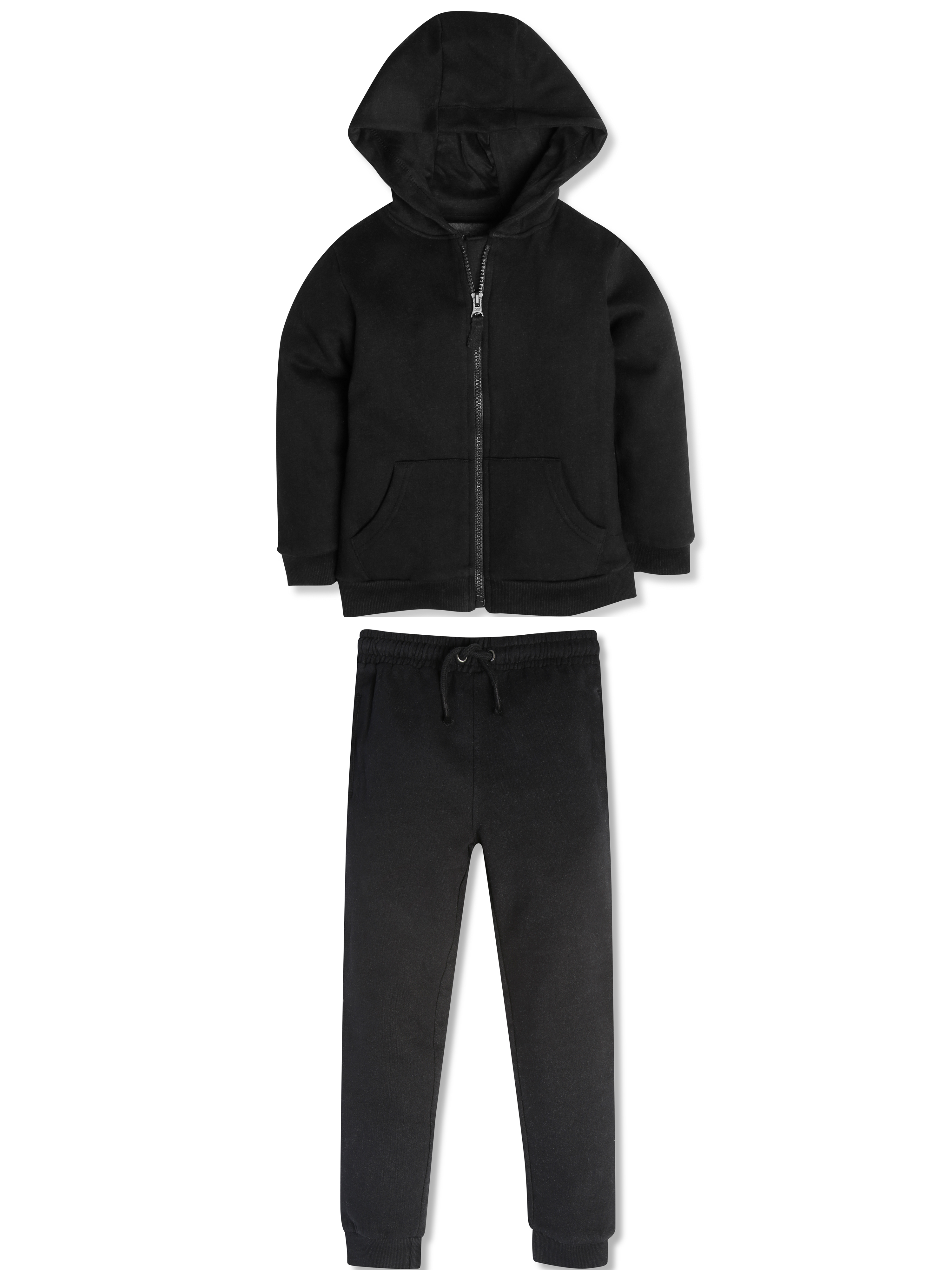 Black Hoodie and Jogger Set (3-12yrs)