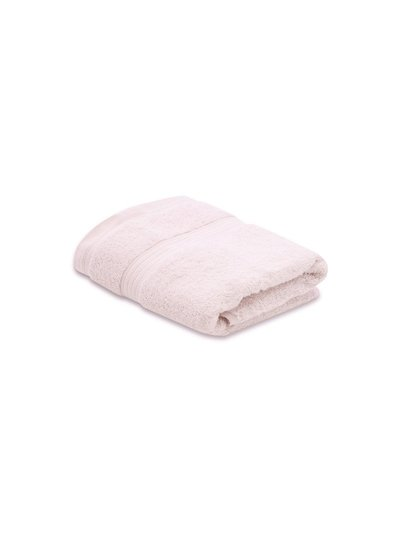 Pink combed cotton hand towel