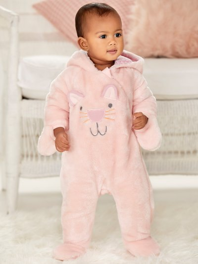 Cat fleece pramsuit