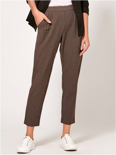 VILA check tapered trousers
