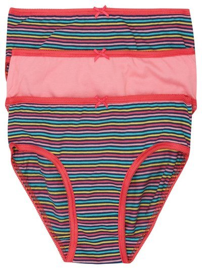 Rainbow stripe briefs three pack (2-10yrs)