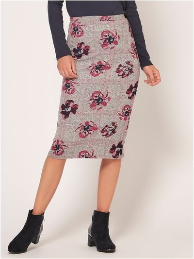 Spirit floral print pencil skirt