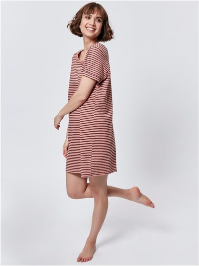 Pure cotton striped nightdress