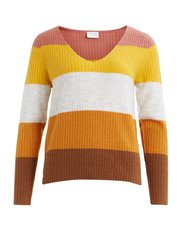 VILA stripe v neck jumper