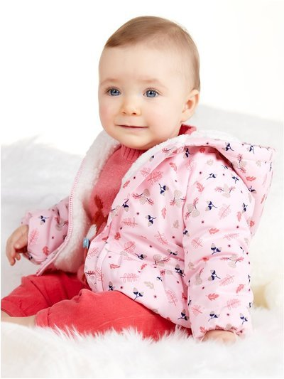 Leaf print padded coat (Newborn - 18 mths)