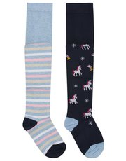 Unicorn tights two pack (1-12yrs)