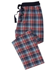 Red and blue check lounge trousers