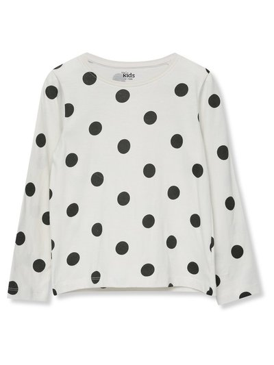 Long sleeve polka dot t-shirt (3-12yrs)