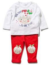 Christmas pudding top and leggings set