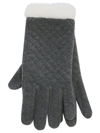 Quilted fleece gloves