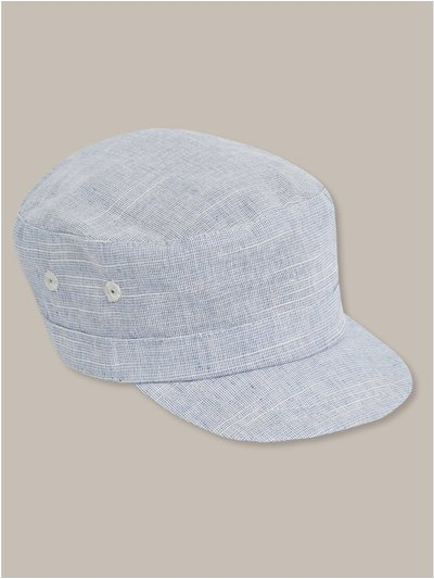 Blue train driver cap