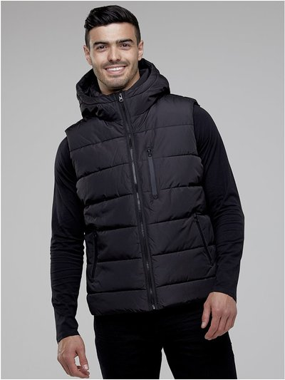 Padded gilet with hood