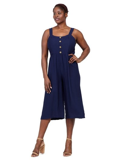 Izabel Curve button neck cropped jumpsuit