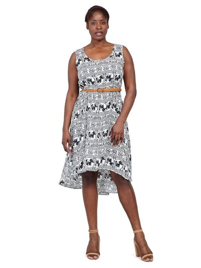 Izabel Curve elephant print midi dress