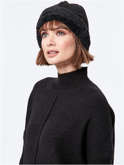 Fleece trim hat